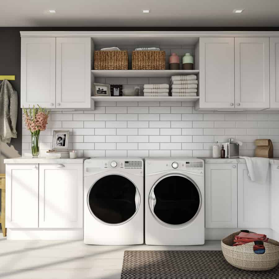 Subway Tile in the laundry room